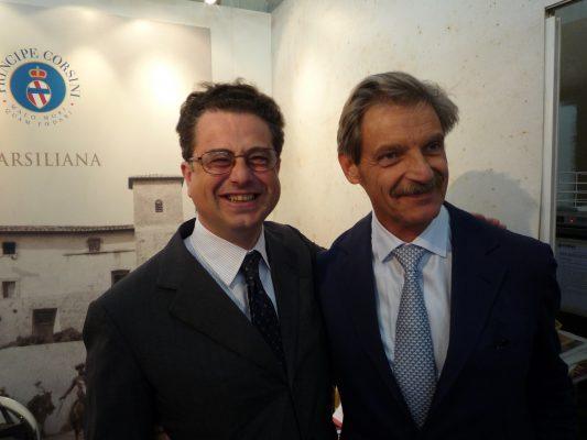 カルロフェッリーニ氏(エノロゴ)&ドゥッチョ氏(オーナー皇子)